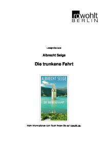 Albrecht Selge Die trunkene Fahrt