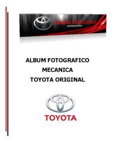 ALBUM FOTOGRAFICO MECANICA TOYOTA ORIGINAL