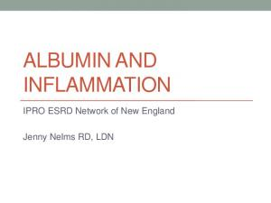 ALBUMIN AND INFLAMMATION