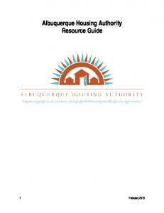 Albuquerque Housing Authority Resource Guide