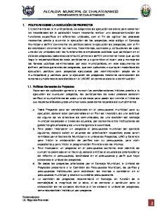 ALCALDIA MUNICIPAL DE CHALATENANGO DEPARTAMENTO DE CHALATENANGO