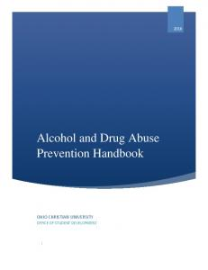 Alcohol and Drug Abuse Prevention Handbook