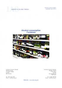 Alcohol consumption Factsheet