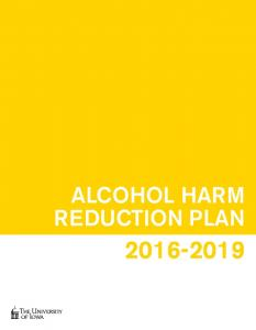 ALCOHOL HARM REDUCTION PLAN