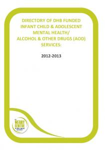 ALCOHOL & OTHER DRUGS (AOD) SERVICES: