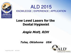 ALD 2015 KNOWLEDGE EXPERIENCE APPLICATION