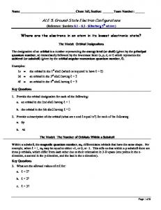 ALE 5. Ground-State Electron Configurations