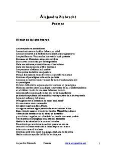 Alejandra Ziebrecht. Poemas. El mar de los que fueron