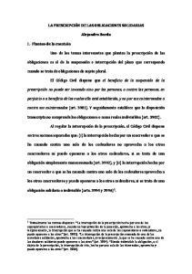 Alejandro Borda. cuando se trata de obligaciones de sujeto plural