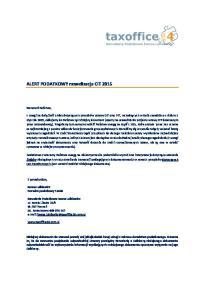 ALERT PODATKOWY nowelizacja CIT 2015