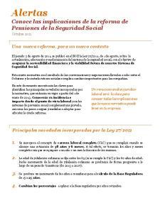 Alertas Conoce las implicaciones de la reforma de Pensiones de la Seguridad Social