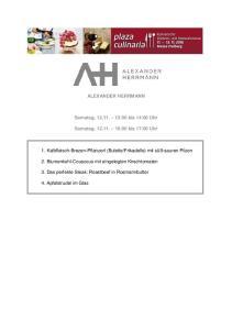 ALEXANDER HERRMANN. Samstag, :00 bis 14:00 Uhr. Samstag, :00 bis 17:00 Uhr