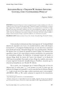 Alexander Kluge y Theodor W. Adorno: Industria