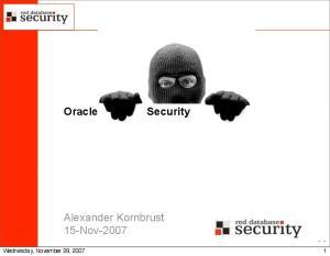 Alexander Kornbrust 15-Nov-2007