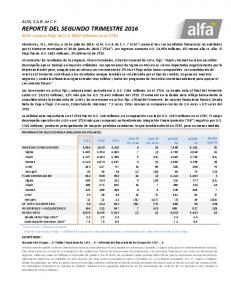 ALFA reporta Flujo de U.S. $642 millones en el 2T16