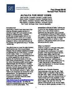 ALFALFA FOR BEEF COWS