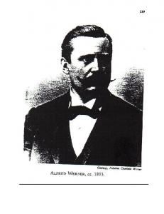 Alfred Werner Father of Inorganic Stereochemistry and Coordination Chemistry