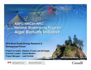 Algal Biofuels Initiative