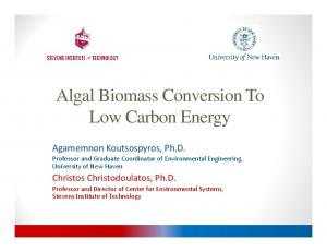 Algal Biomass Conversion To Low Carbon Energy