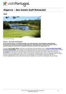 Algarve das beste Golf-Reiseziel