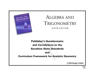 ALGEBRA AND TRIGONOMETRY SIXTH EDITION
