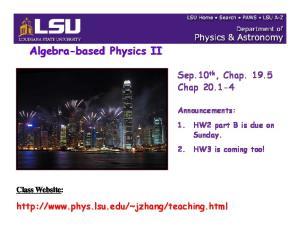 Algebra-based Physics II