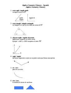 Algebra Geometry Glossary Spanish Algebra Geometry Glossary