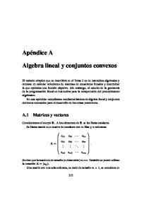 Algebra lineal y conjuntos convexos