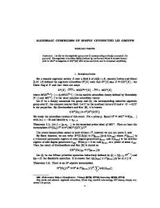 ALGEBRAIC COBORDISM OF SIMPLY CONNECTED LIE GROUPS