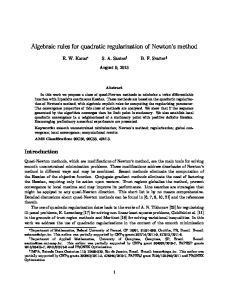 Algebraic rules for quadratic regularization of Newton s method