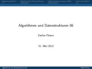 Algorithmen und Datenstrukturen 06