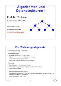 Algorithmen und Datenstrukturen 1