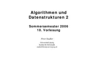 Algorithmen und Datenstrukturen 2