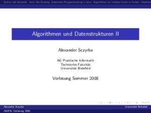 Algorithmen und Datenstrukturen II