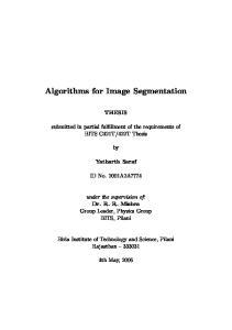 Algorithms for Image Segmentation