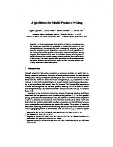 Algorithms for Multi-Product Pricing