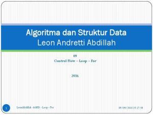 Algoritma dan Struktur Data Leon Andretti Abdillah