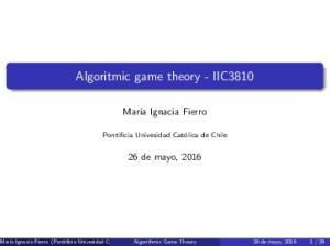 Algoritmic game theory - IIC3810