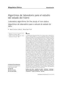 Algoritmos de laboratorio para el estudio del estado del hierro