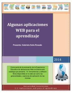 Algunas aplicaciones WEB para el aprendizaje