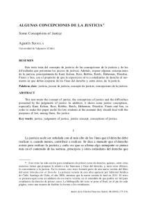 ALGUNAS CONCEPCIONES DE LA JUSTICIA *