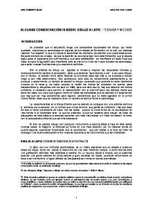 ALGUNAS CONSIDERACIONES SOBRE DIBUJO A LAPIZ - TECNICA Y MEDIOS
