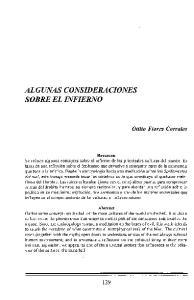 ALGUNAS CONSIDERACIONES SOBRE EL INFIERNO