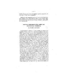 ALGUNAS CONSIDERACIONES SOBRE LAS MATEMATICAS MODERNAS