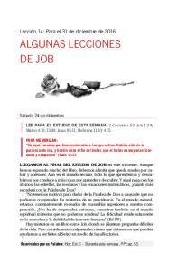 ALGUNAS LECCIONES DE JOB
