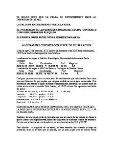ALGUNAS PRECISIONES CON FINES DE ILUSTRACION