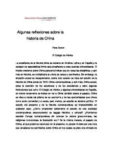 Algunas reflexiones sobre la historia de China