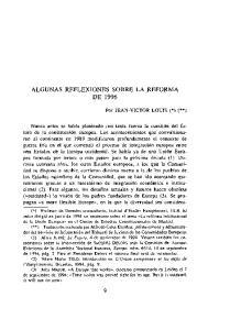 ALGUNAS REFLEXIONES SOBRE LA REFORMA DE 1996