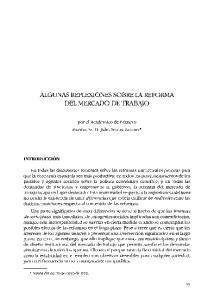 ALGUNAS REFLEXIONES SOBRE LA REFORMA