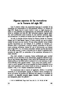 Algunos aspectos de los mercaderes en la Navarra del siglo XIV